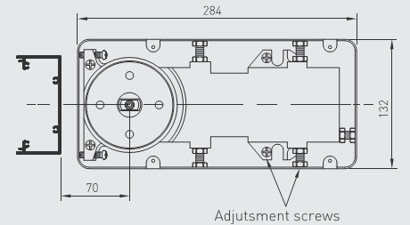 A-FS-4002-00-NS AXIM Floor Spring & Box Non Hold Open Size 2